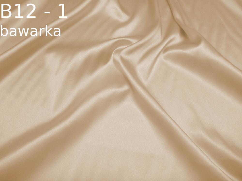 Tkanina jedwabna satyna elastyczna w kolorze bezowym