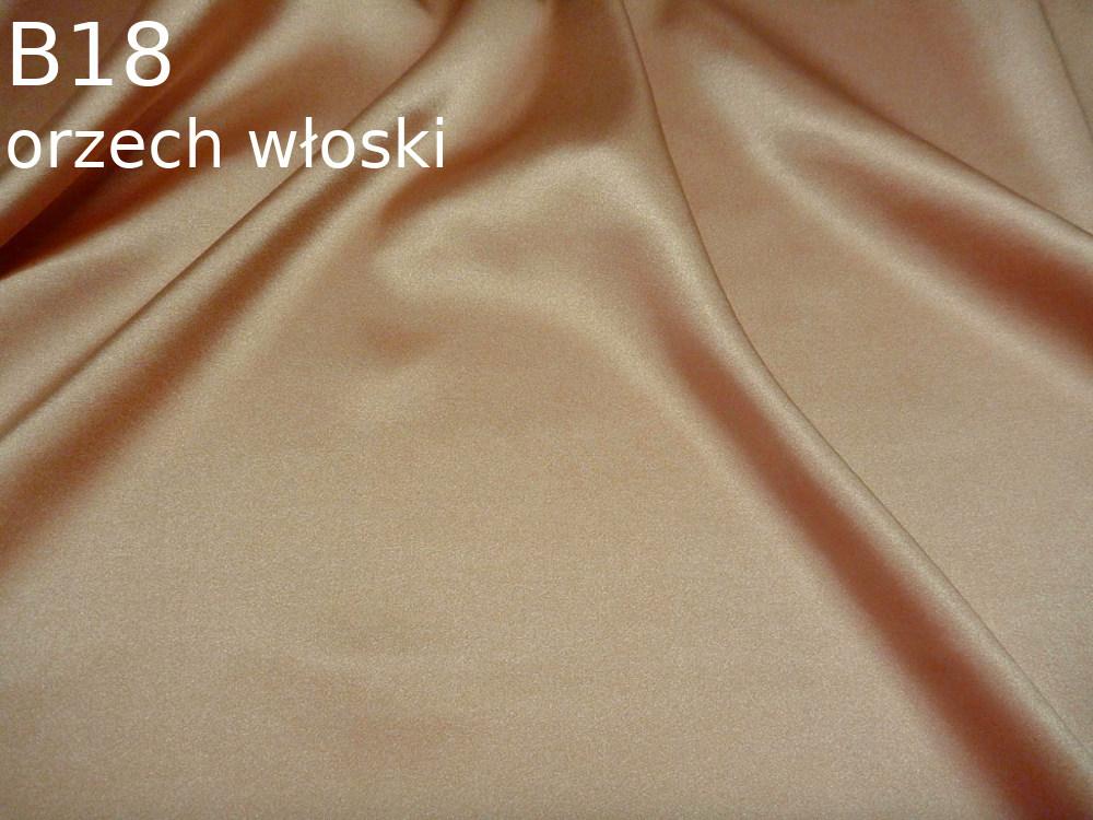 Tkanina jedwabna satyna elastyczna w kolorze beżowym