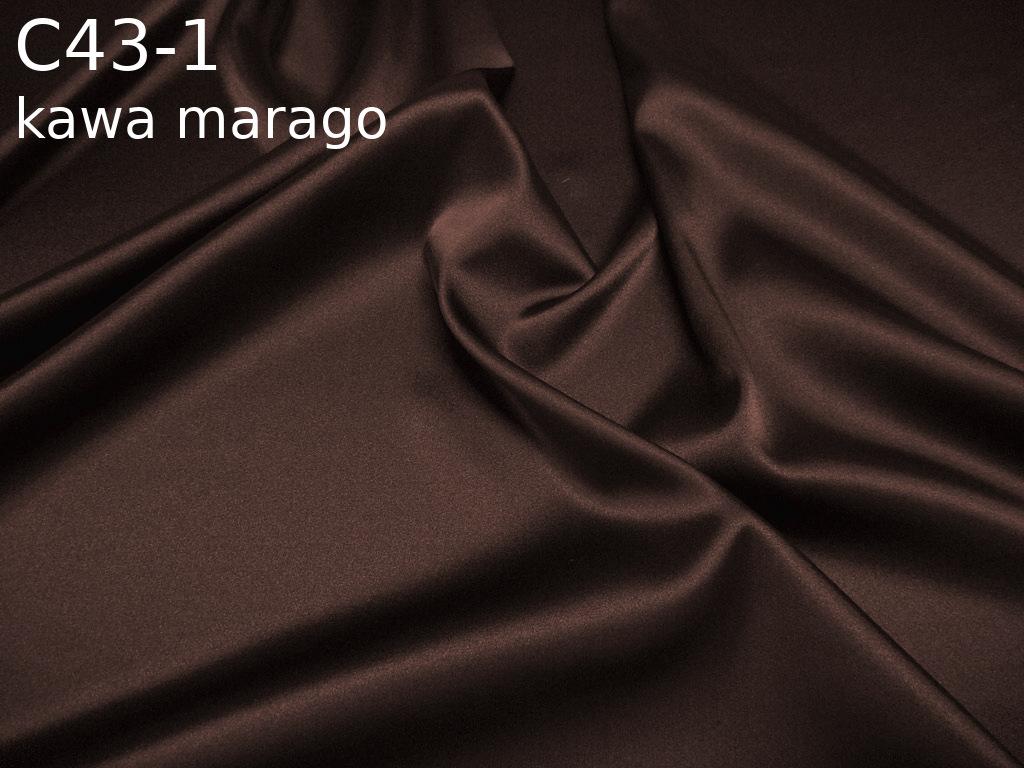 Tkanina jedwabna satyna elastyczna w kolorze brązowym