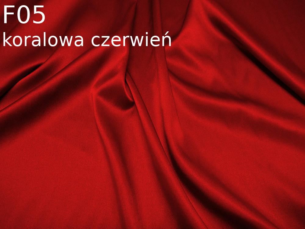 Tkanina jedwabna satyna elastyczna w kolorze czerwonym