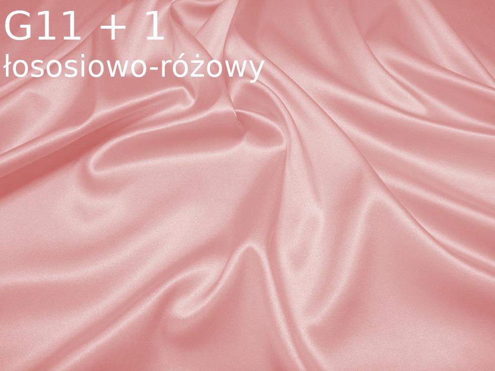 Tkanina jedwabna satyna elastyczna w kolorze rozowym