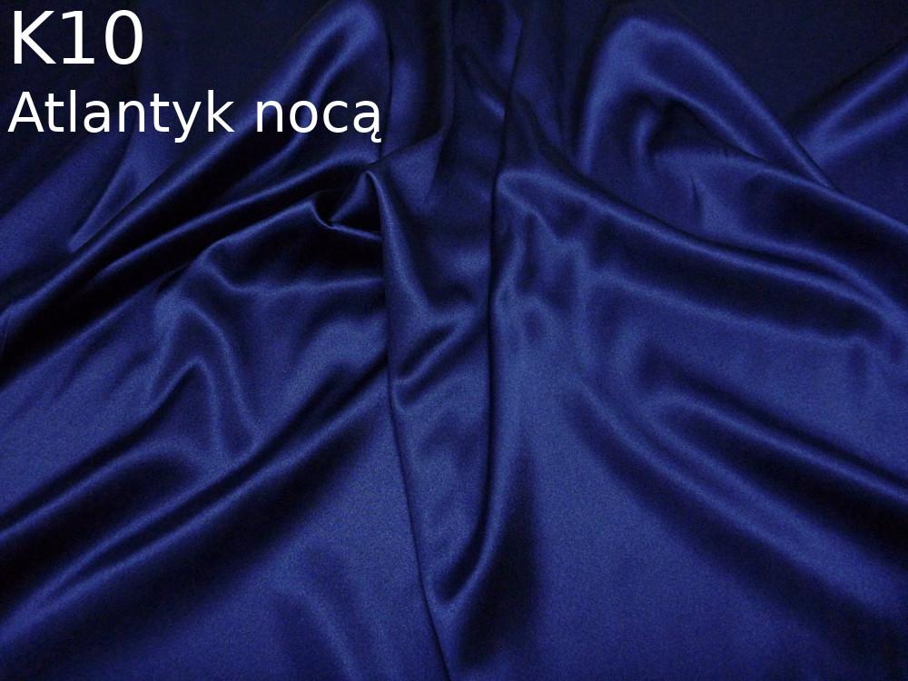 Tkanina jedwabna satyna elastyczna w kolorze niebieskim