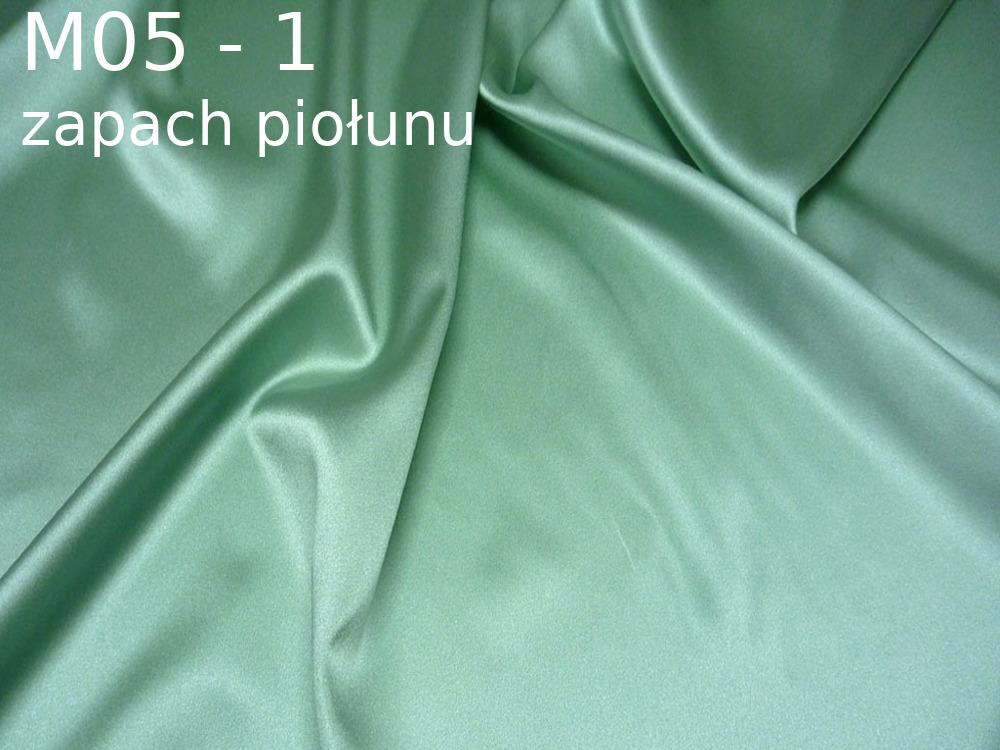 Tkanina jedwabna satyna elastyczna w kolorze zielonym