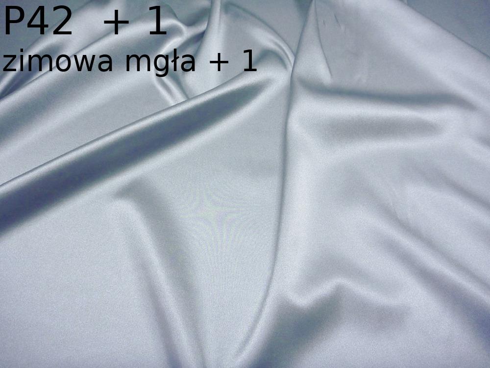 Tkanina jedwabna satyna elastyczna w kolorze szarym