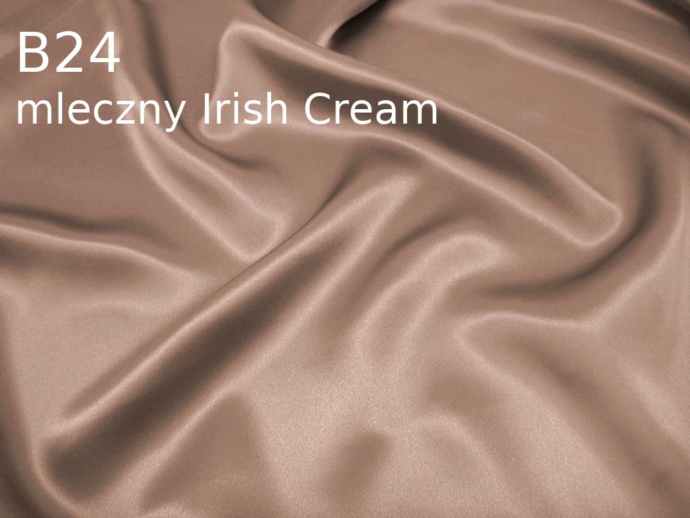 Tkanina jedwabna satyna w kolorze beżowym