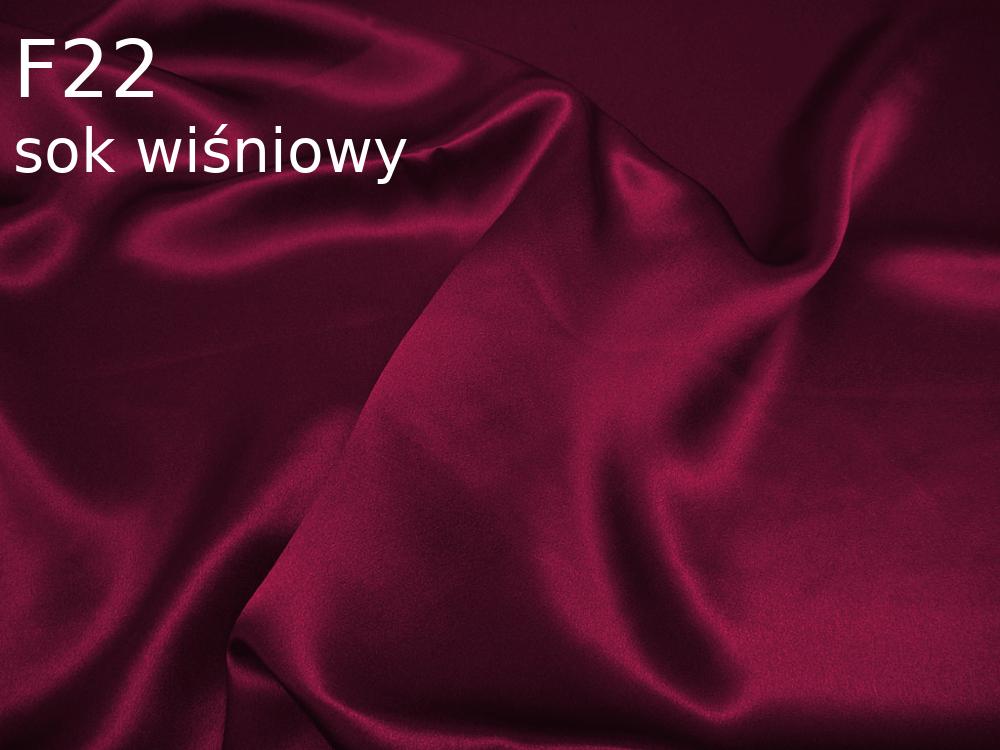 Tkanina jedwabna satyna w kolorze czerwonym