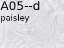 Tkanina jedwabna adamaszek mleczna biel wzór - paisley