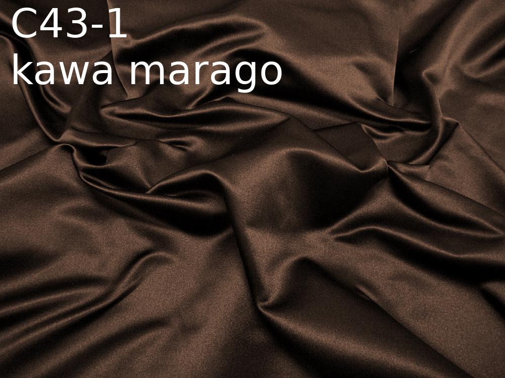 Tkanina jedwabna satyna w kolorze brązowym