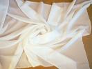 Tkanina jedwabna krepa mleczna biel