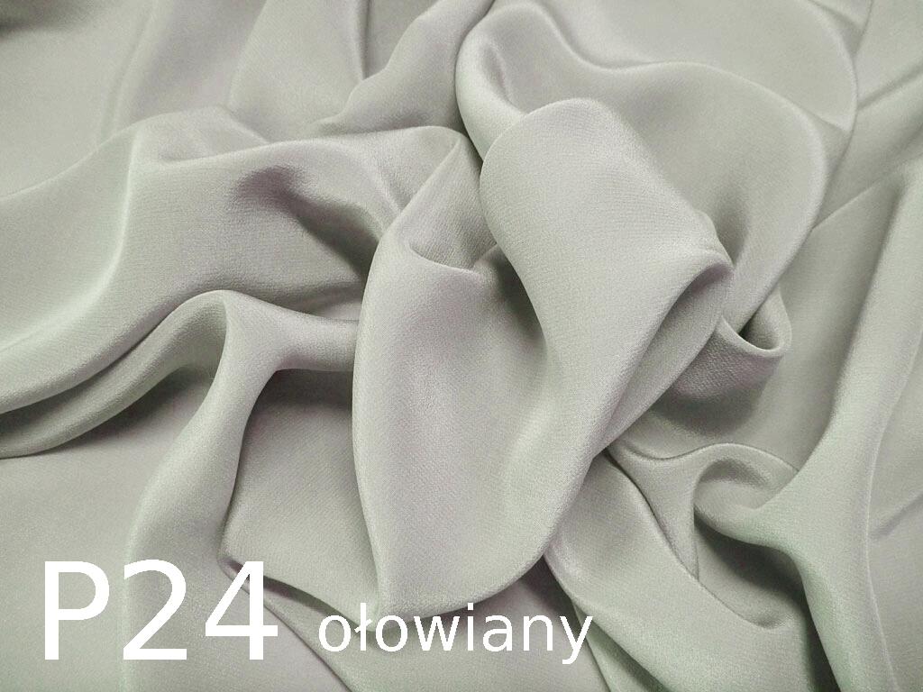 Tkanina jedwabna krepa w kolorze szarym