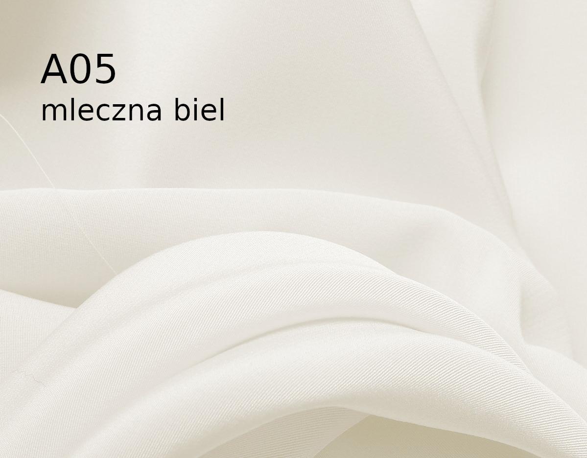 Tkanina jedwabna krepa w kolorze białym