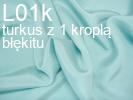 Tkanina jedwabna krepa turkus z 1 kroplą błękitu