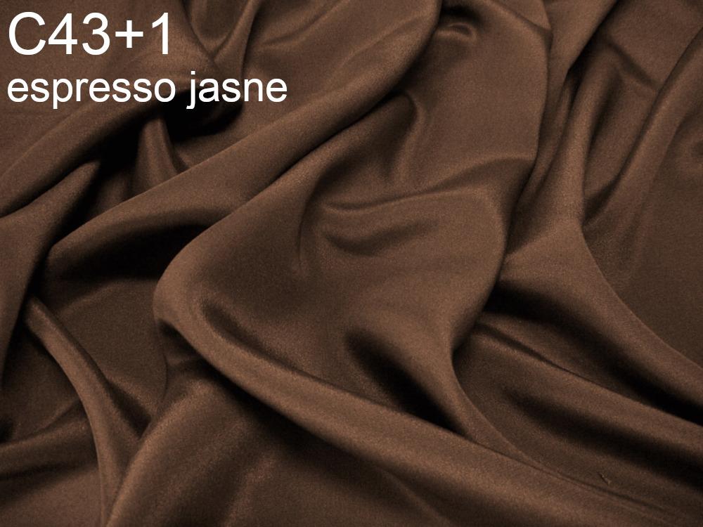 Tkanina jedwabna krepa w kolorze brązowym
