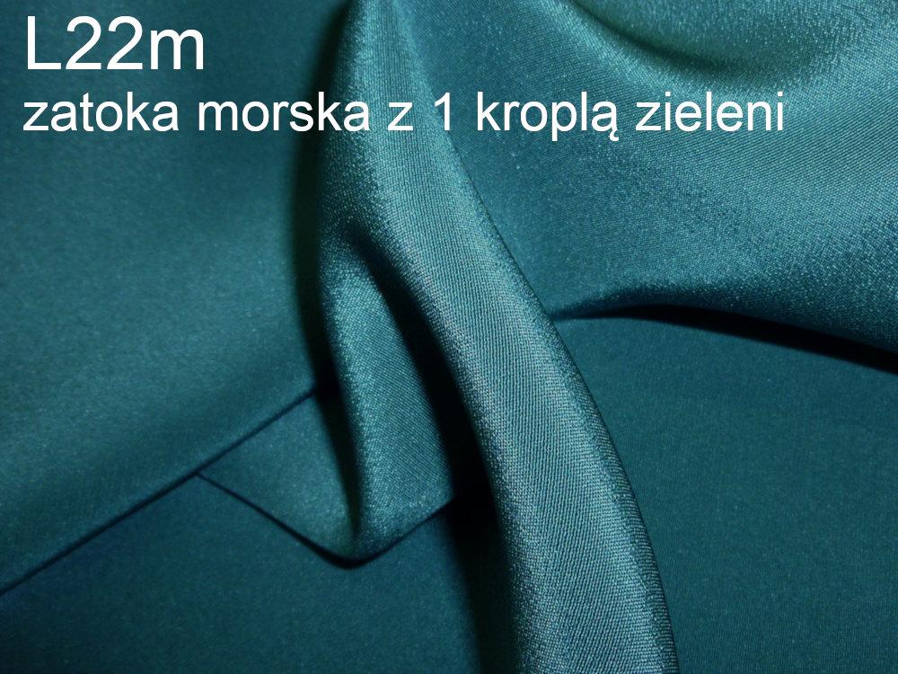 Tkanina jedwabna krepa w kolorze niebieskim
