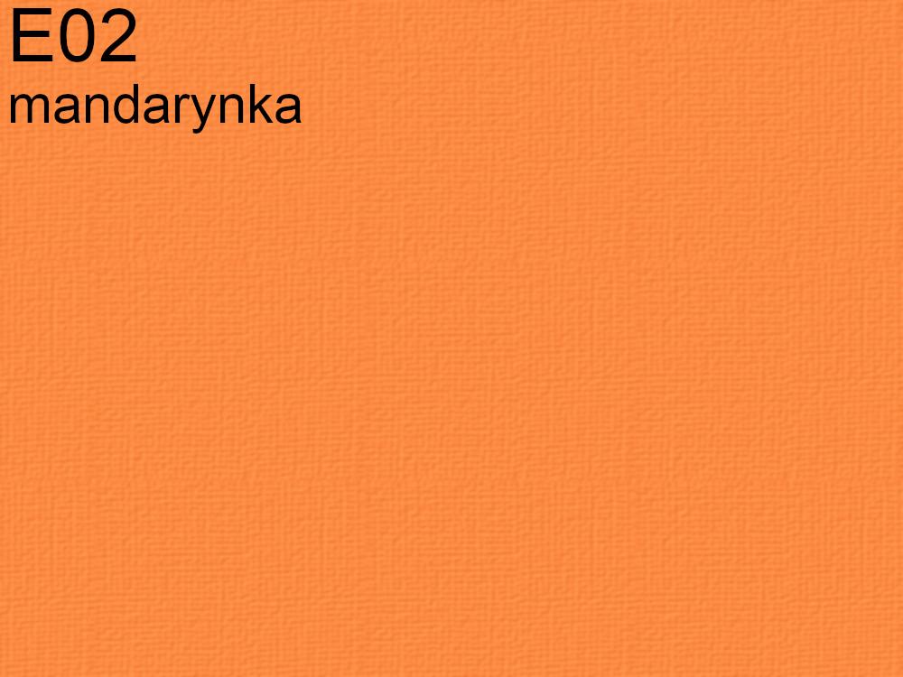 Tkanina jedwabna habotai w kolorze pomarańczowym