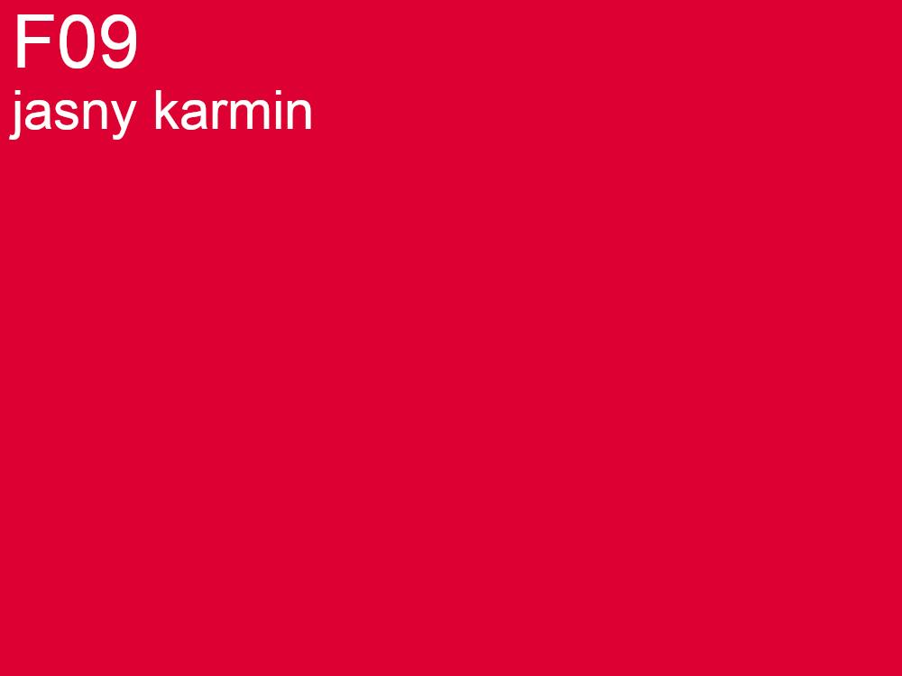 Tkanina jedwabna habotai w kolorze czerwonym