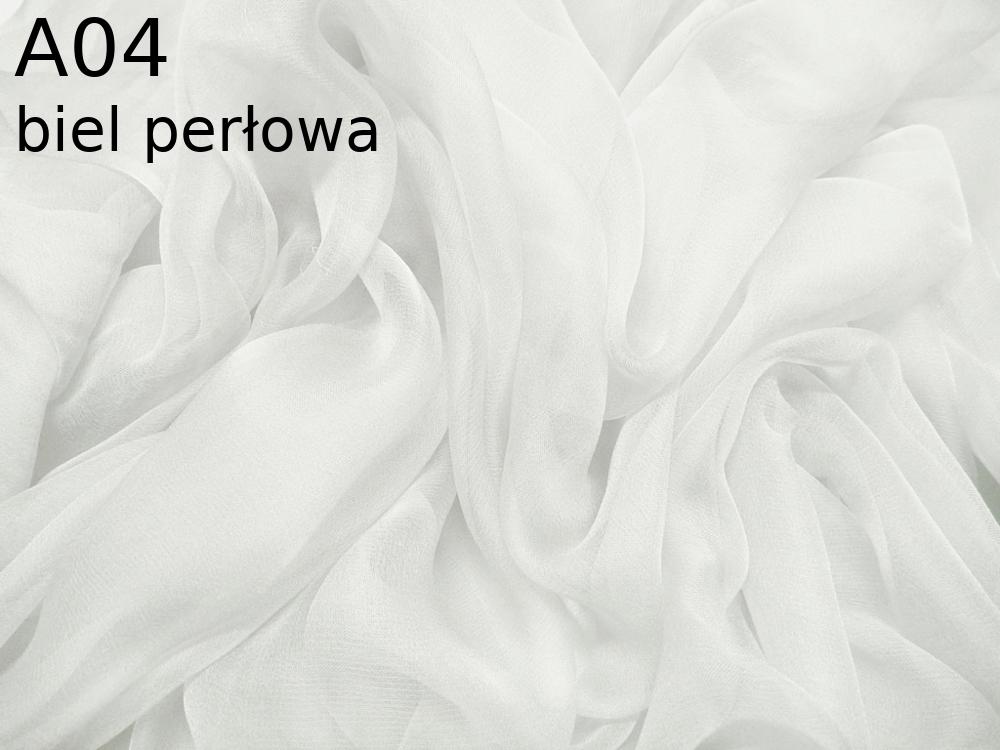 Tkanina jedwabna szyfon w kolorze białym