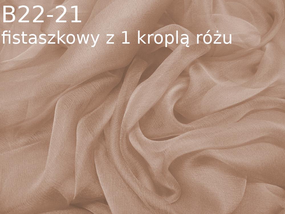 Tkanina jedwabna szyfon w kolorze beżowym