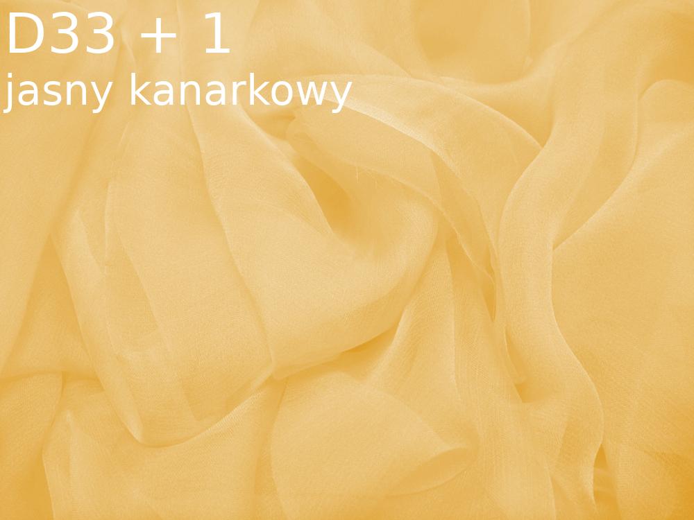 Tkanina jedwabna szyfon w kolorze żółtym