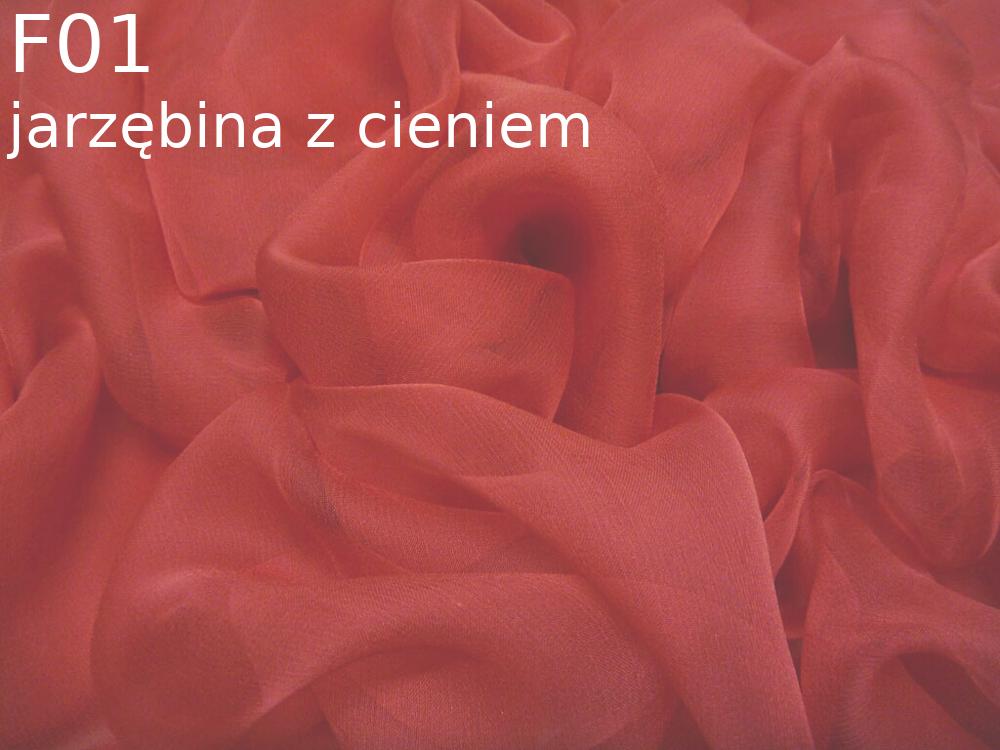 Tkanina jedwabna szyfon w kolorze czerwonym
