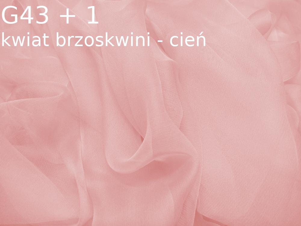 Tkanina jedwabna szyfon w kolorze różowym