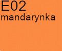 Tkanina jedwabna żorżeta mandarynka