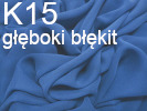 Tkanina jedwabna żorżeta głęboki błękit