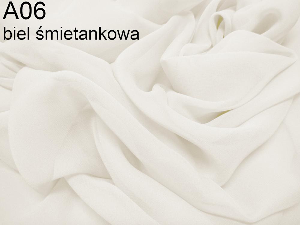 Tkanina jedwabna żorżeta w kolorze białym