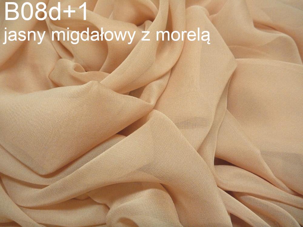 Tkanina jedwabna żorżeta w kolorze beżowym