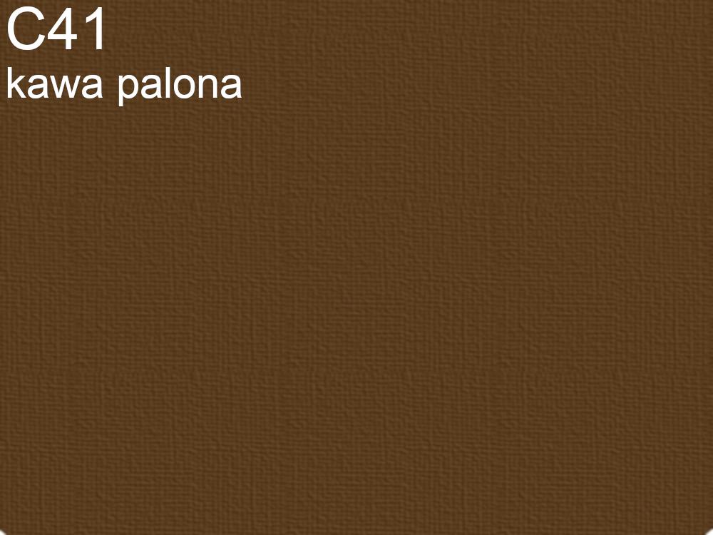 Tkanina jedwabna żorżeta w kolorze brązowym