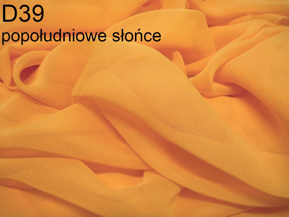 Tkanina jedwabna żorżeta w kolorze żółtym