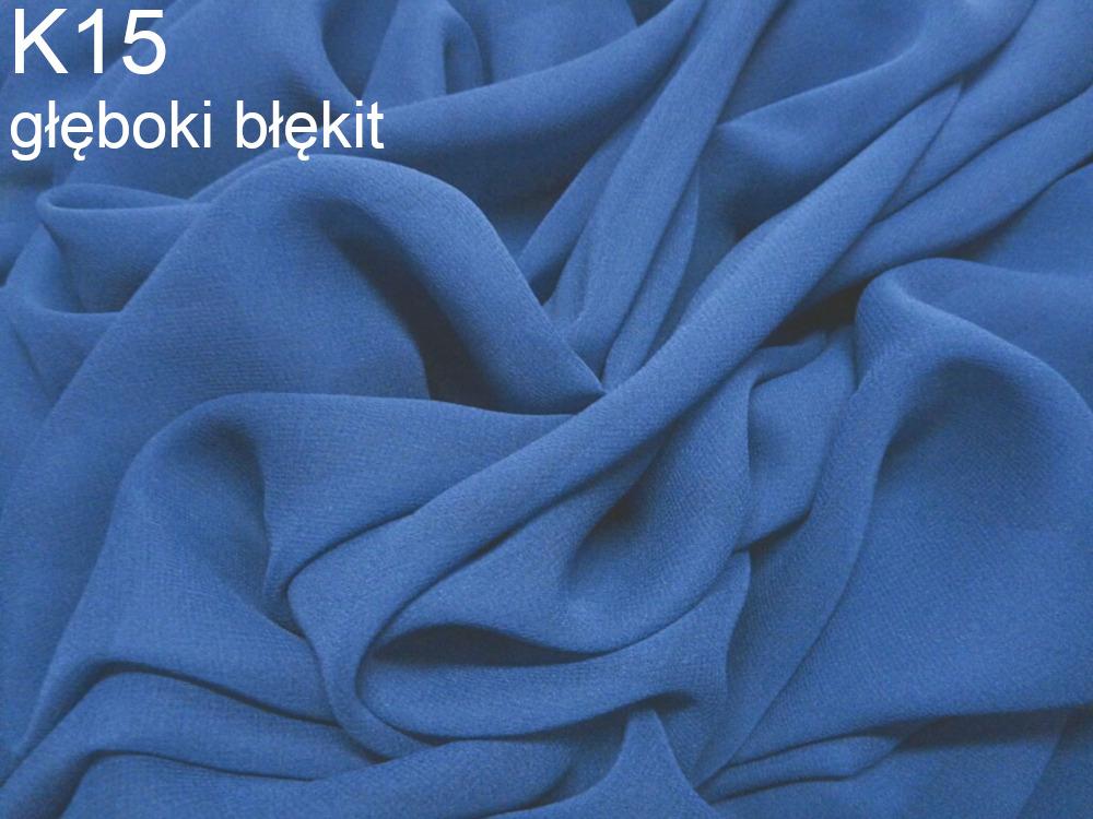Tkanina jedwabna żorżeta w kolorze niebieskim