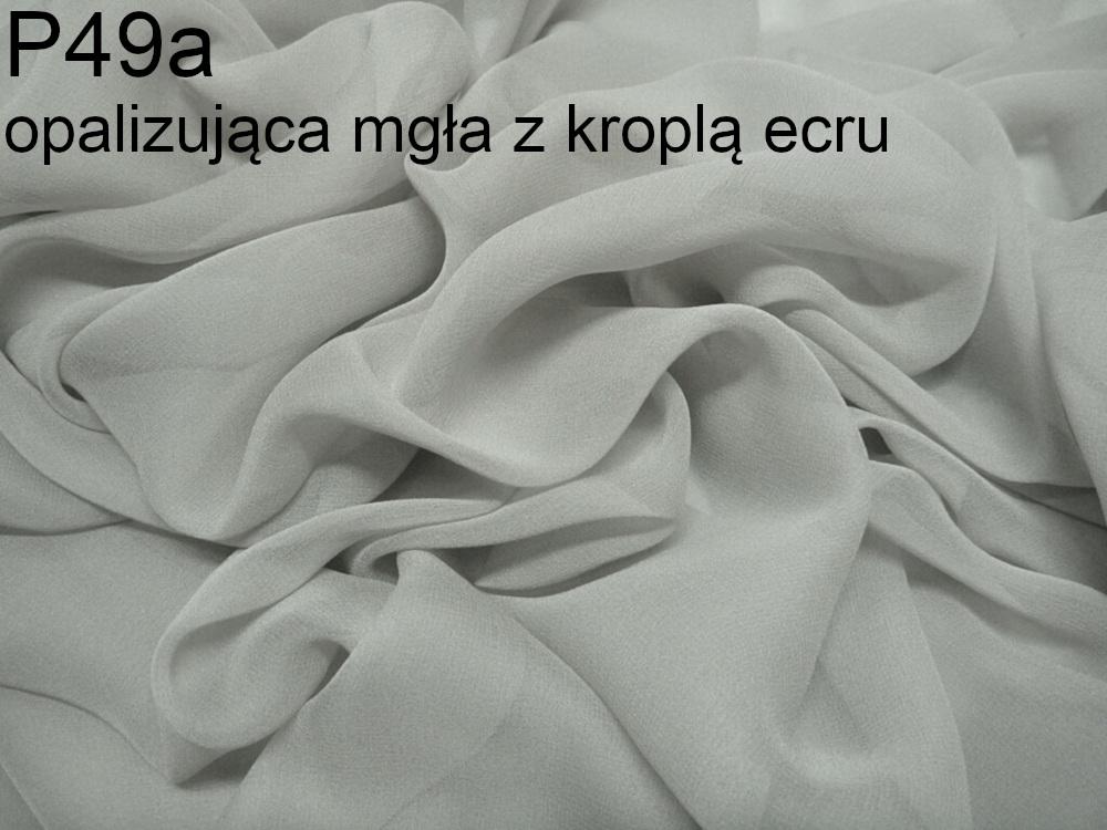 Tkanina jedwabna żorżeta w kolorze szarym