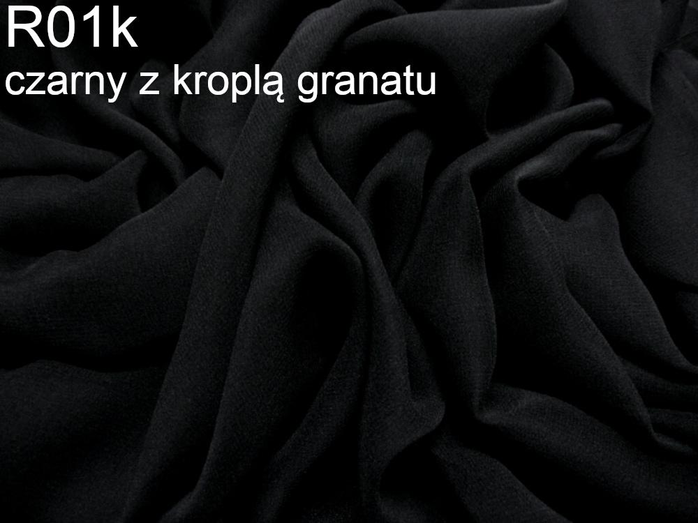 Tkanina jedwabna żorżeta w kolorze czarnym