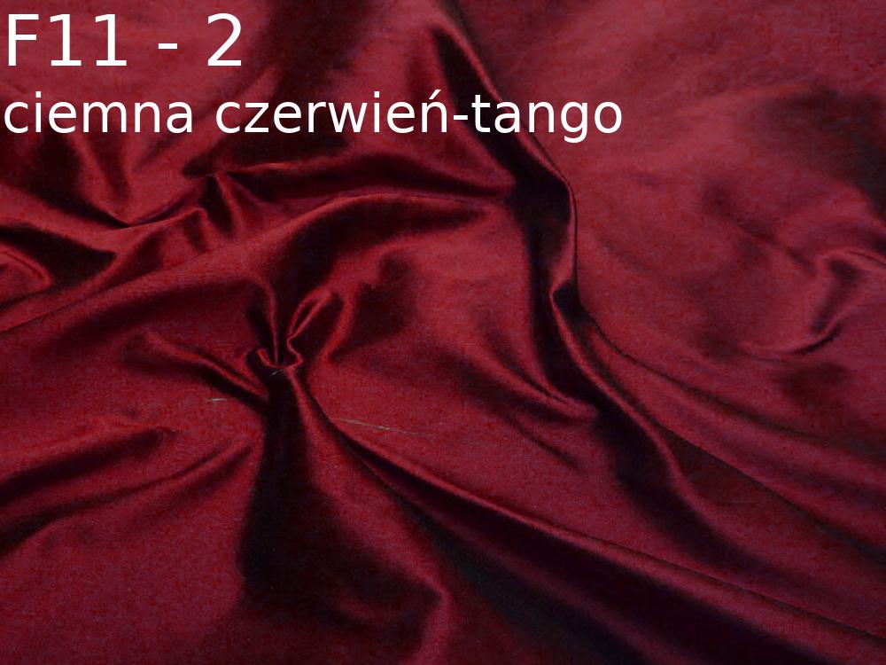 Tkanina jedwabna tafta w kolorze czerwonym
