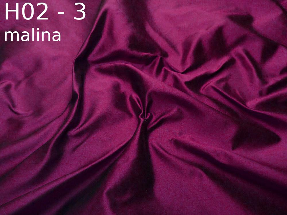 Tkanina jedwabna tafta w kolorze fioletowym