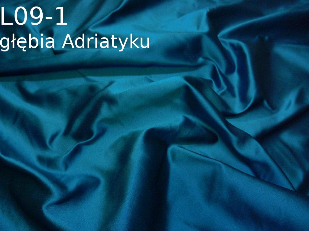Tkanina jedwabna tafta w kolorze niebieskim