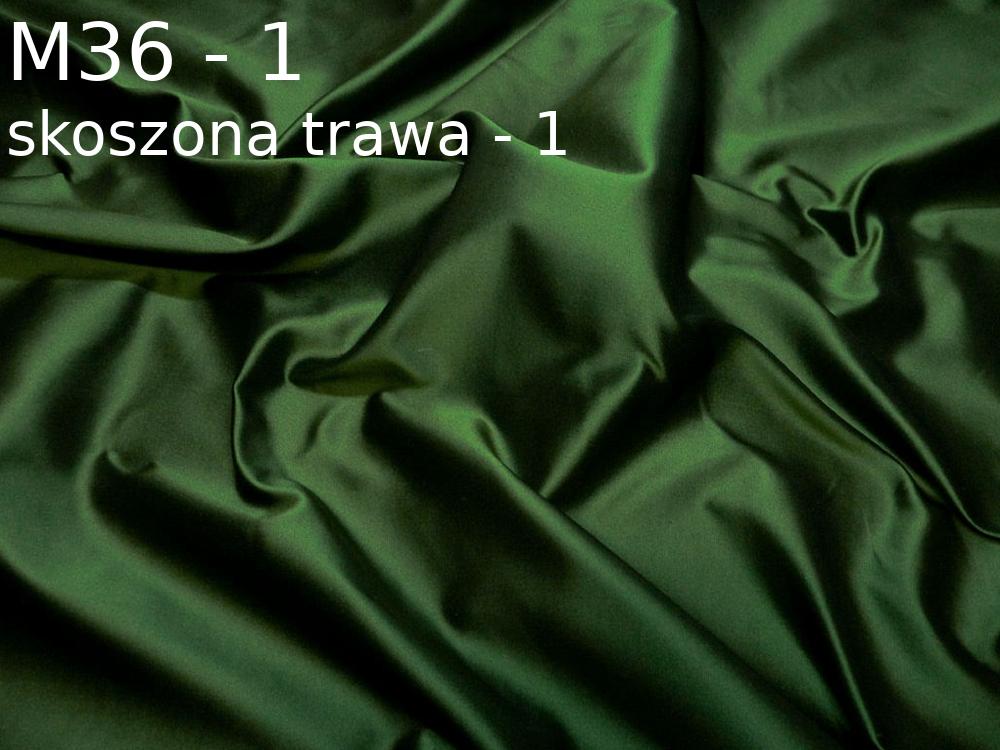 Tkanina jedwabna tafta w kolorze zielonym