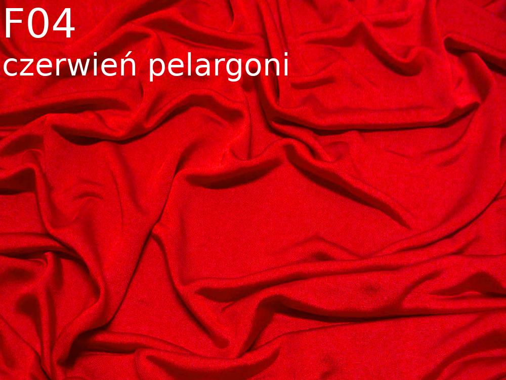 Dzianina jedwabna jersey w kolorze czerwonym