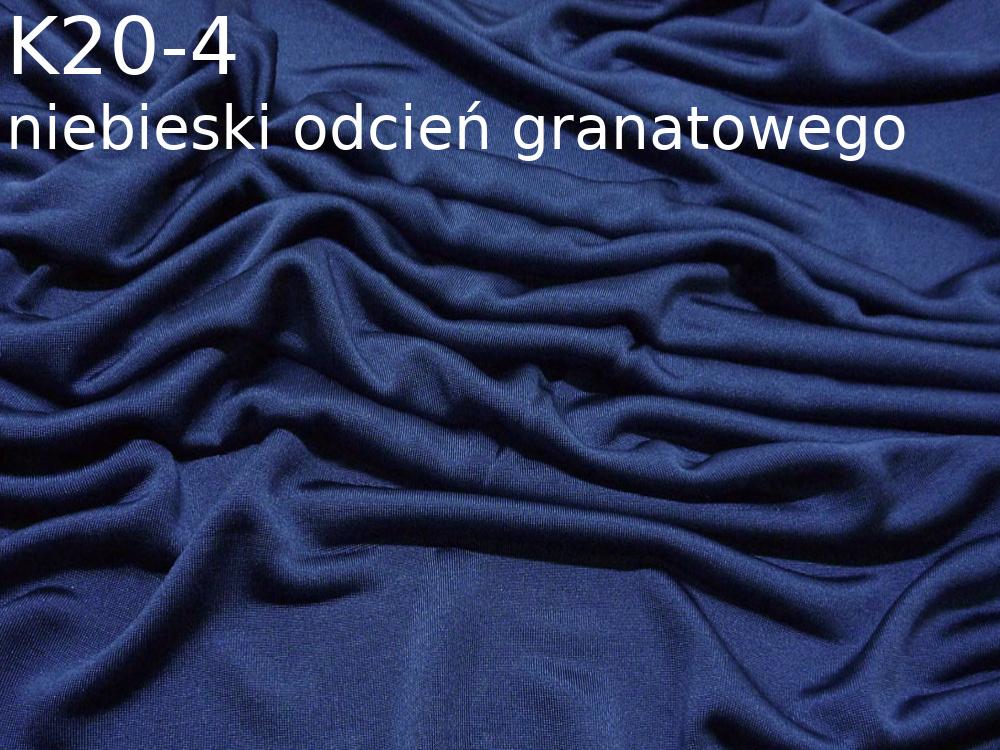 Dzianina jedwabna jersey w kolorze niebieskim