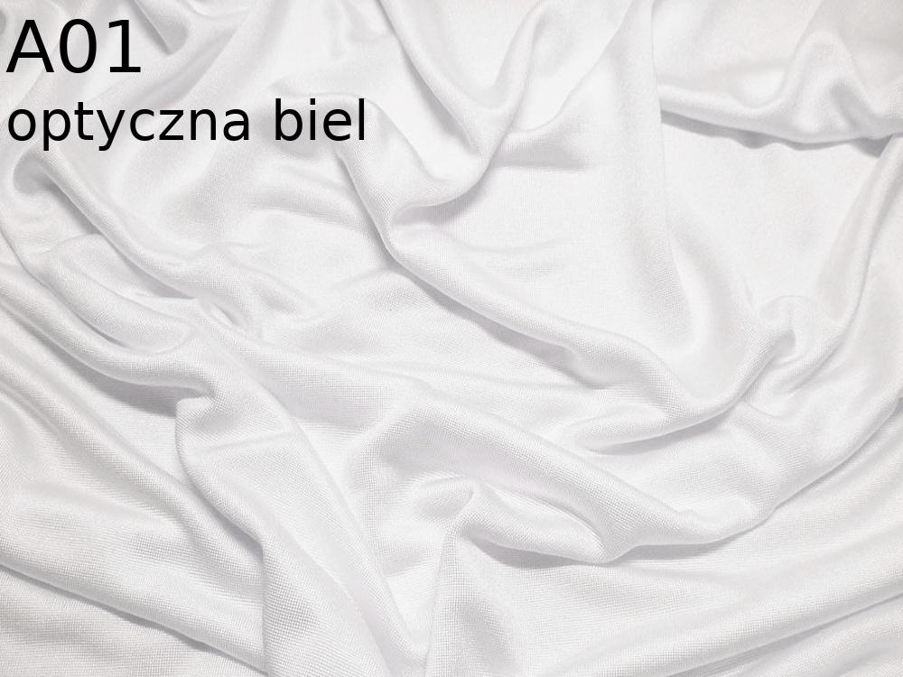 Dzianina jedwabna jersey w kolorze białym