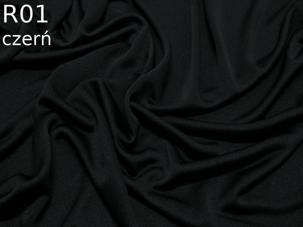 Dzianina jedwabna jersey w kolorze czarnym